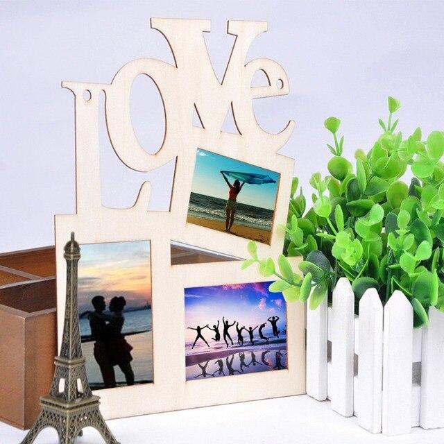 3 cajas Hollow amor madera Marcos arte decoración moderna foto de la ...
