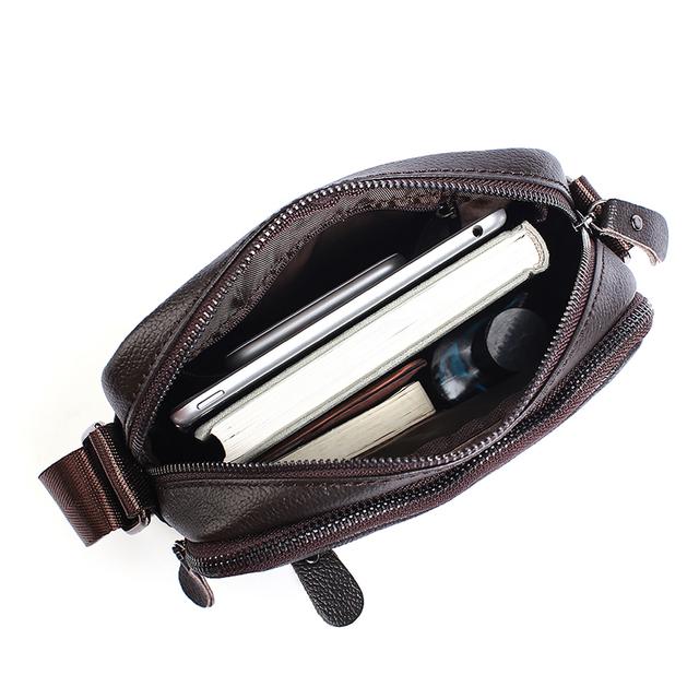 WESTAL genuine leather Messenger bag men shoulder bags casual Male flap zipper new design handbags Crossbody bags for men 223