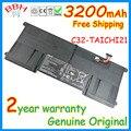 "Genuine NEW 3200 mah 11.1 V C32-TAICHI21 batttery original para asus TAICHI 21 WIN8 11.6 ""battertia Deformar laptop baterias AKKU"