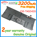 "Genuine NEW 3200mah 11.1V C32-TAICHI21 original batttery for asus TAICHI 21 WIN8 11.6"" Deform laptop battertia batteries AKKU"