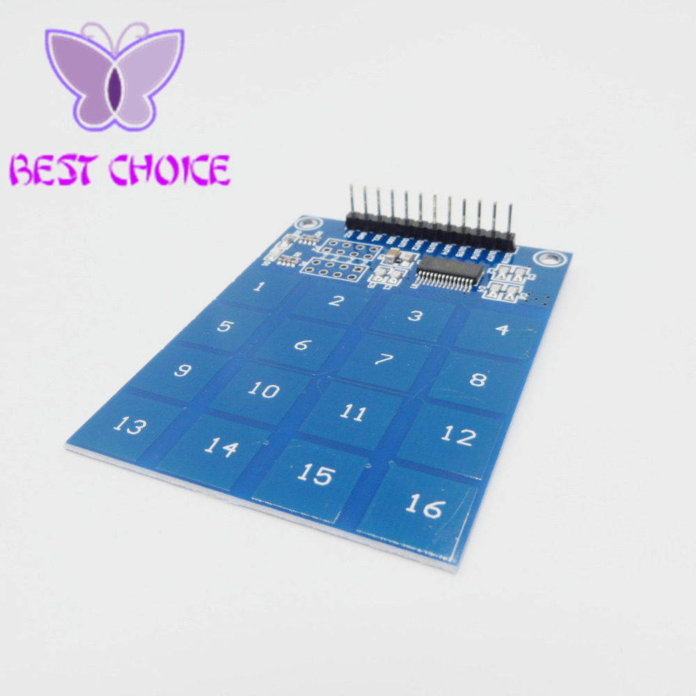 Arduino TTP229 16 Channel Digital Capacitive Switch Touch Sensor Module NEW