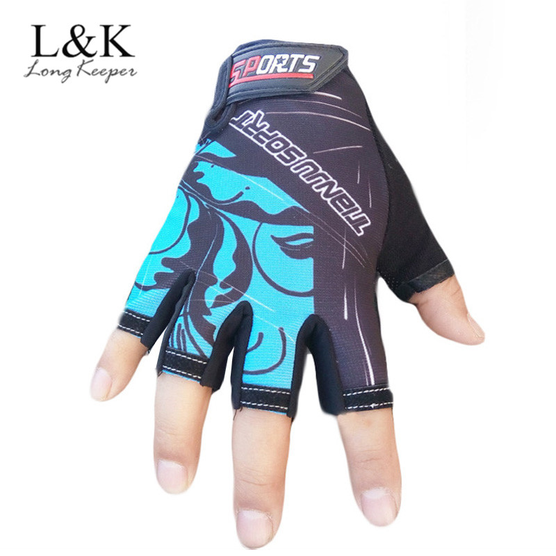 Long Keeper Mr Right Half Finger Gloves Breathable Riding Gloves Men Women Sports Short Gloves mittens fingerless luva eldiven