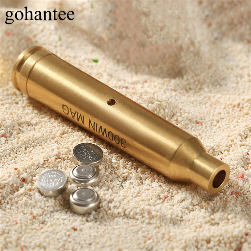 gohantee Hunting Boresighter CAL: 300 WIN MAG Cartridge Red Laser Bore Sight Sighter Tactical Gun Rifle Pistol Brass Boresighter