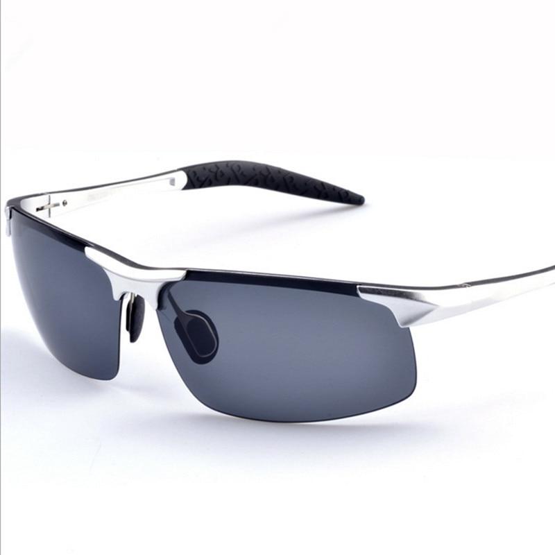 Aluminio magnesio Polaroid Gafas de sol hombres polarizados conducción Sol  Gafas mens Gafas de sol marca diseñador oculos de sol Masculino 8b84d5322415