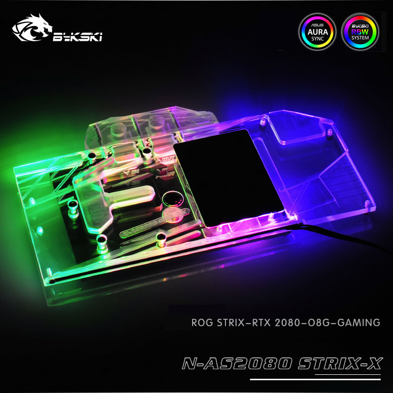 Bykski 水ブロック使用 asus ROG ストリックス RTX2080 OC/2080 O8G GAMING/rtx 2070 スーパー/RTX2080S/互換オリジナルバックプレート  グループ上の パソコン & オフィス からの ファン & 冷却 の中 1