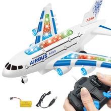 4 Channel Listrik Pesawat Remote Control RC Helikopter Boeing 747 Airbus Penerbangan Sipil Model Mainan Pendidikan Mainan Anak Anak