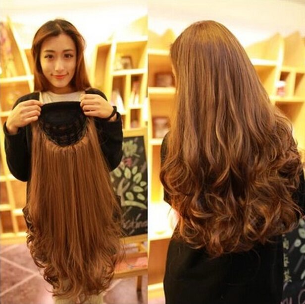 Lovely Half A Head Long Curly Wig Boutique Hair Wig Girls Love