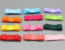 цена на 120pcs 2 Inch handmade Hair Bows, Grosgrain Bows Set,for baby Girls, toddlers,Boutique Bows diy mix color no clips on