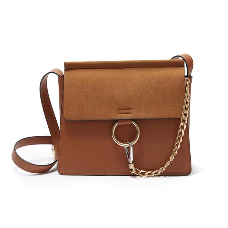 2018 del nuovo di Modo retro di colore solido vestito di un-spalla diagonale piccola borsa piazza multifunzione di Alta Qualità di stile borsa a tracolla a catena
