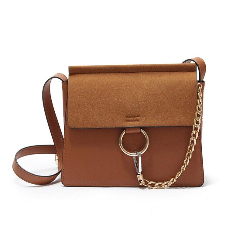 2018 Новая мода ретро сплошной цвет одно плечо диагональ небольшой квадратный мешок многоцелевой высокое качество стиль цепи сумка