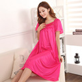 Panas di penjualan! 2015 summer sexy long section of the silk nightgown lace applique 7 colors, free home delivery