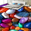 Free Shipping Custom 3D Colorful Jade Stone Stone Pebble Floor Mural Shopping Mall Bedroom Bathroom Self
