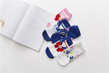 Anime Cartoon Girl Warrior Socks Sailor Moon Cotton Products Women Lovely Luna Cat Cosplay