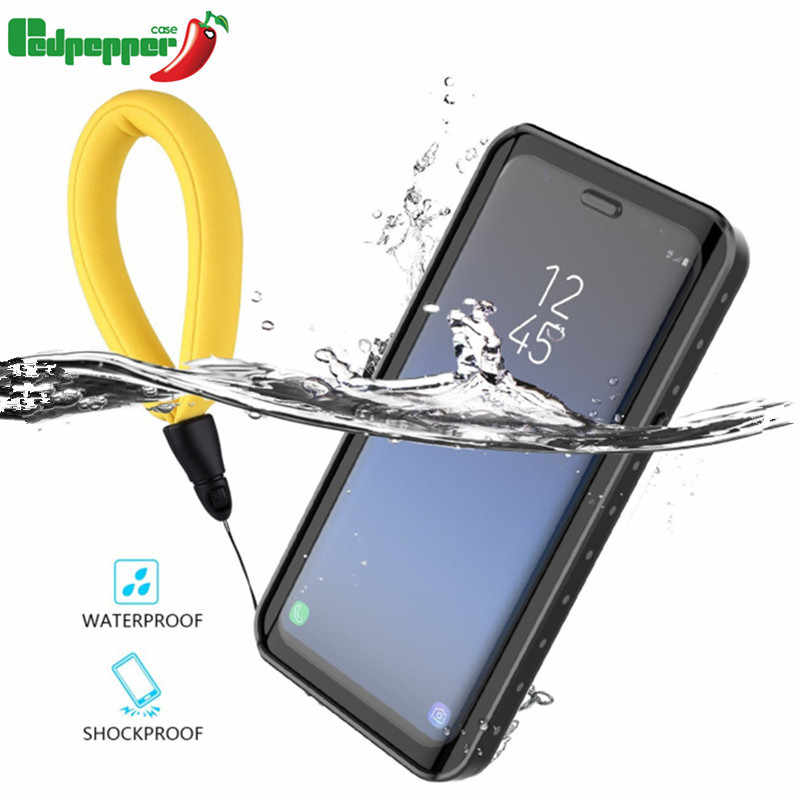 77b36d53f Waterproof Case for Samsung Galaxy note 9 note 8 S7 edge S8 S9 Plus  Transparent Shockproof