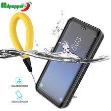 กรณีกันน้ำสำหรับ Samsung Galaxy หมายเหตุ 9 หมายเหตุ 8 S7 edge S8 S9 S10 Plus โปร่งใสกันกระแทกสำหรับ iPhone 7 8X6 S 6 coque