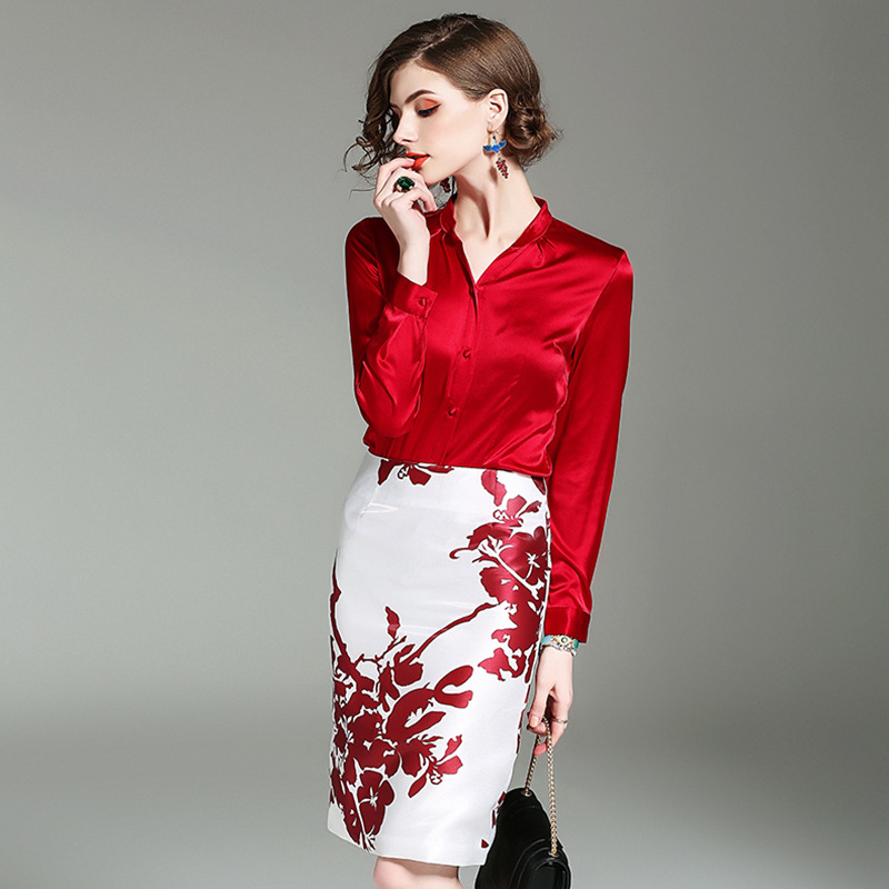 Online Buy Wholesale red silk suit from China red silk suit ...