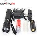 2000LM Тактический Светодиодный Фонарик CREE Q5 светодиодные лампы фонарик мощный фонарик аккумуляторная полиции фонарик 3 режимов 18650 led