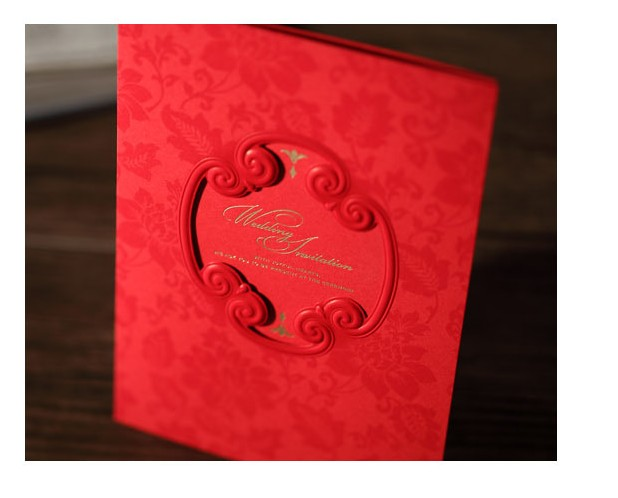 Wishmade Red Cover Wedding Invitation Cards Printable Customize Free Suppliers Invitations CW1033
