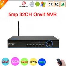 Bule panel Hi3536C XMeye Video Recorder H.265 5mp 32CH 32 ChanneL One SATA WIFI Onvif IP Camera CCTV NVR Free Shipping