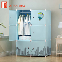 DIY wardrobe Fashion Hot Sale plastic cabinet