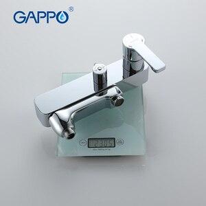 Image 5 - GAPPO banyo duş musluk seti küvet mikseri musluk banyo yağmur biçimli duş musluk banyo duş başlığı paslanmaz duş bar GA2402