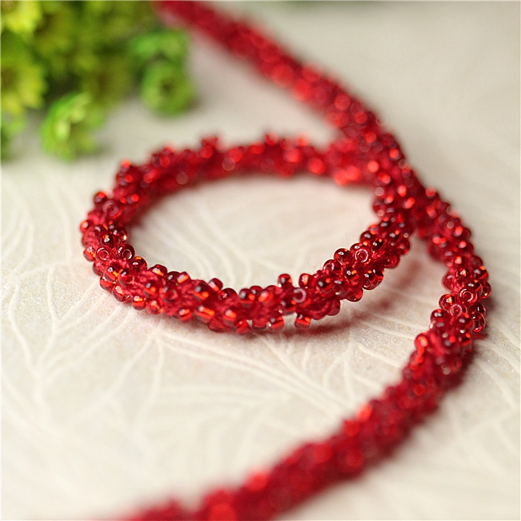 0 5cm 1yards multi color beaded trimmings for clothing wedding dresses DIY sewing accessories trim for tailor in Lace from Home Garden