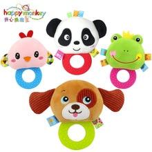 Купить с кэшбэком baby plastics teether toys Plush hand ring 8 animal available  baby toys for teeth