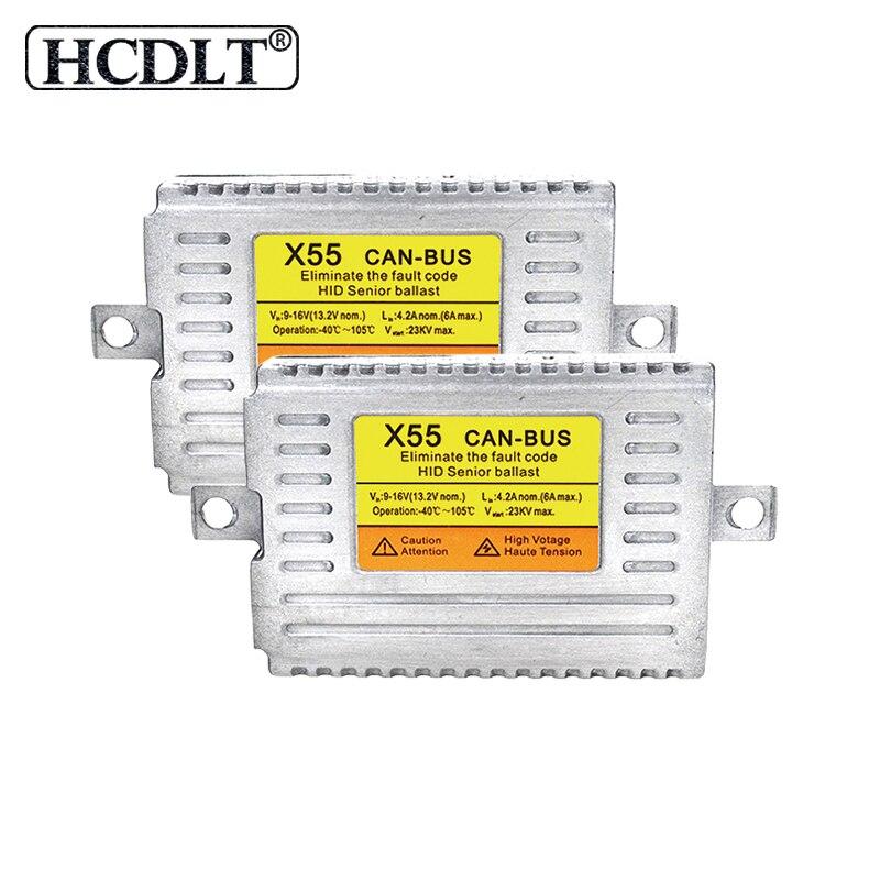 HCDLT 12 V 55 W Canbus HID Ballast voiture phare DLT X55 Canbus démarrage rapide bloc allumage pour 55 W Kit ampoule xénon voiture accessoires