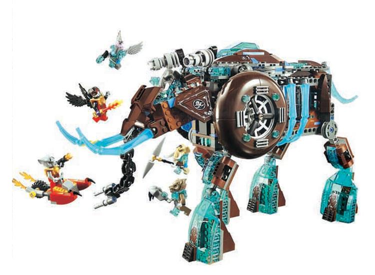 10297 Chimae Maulas Ice Mammoth Stomper Building Block kids DIY Bricks Toys Christmas gift Compatible Lepin 70145 for children ice age prehistoric animal a mammoth in a walk collection children toys a mammoth in a walk