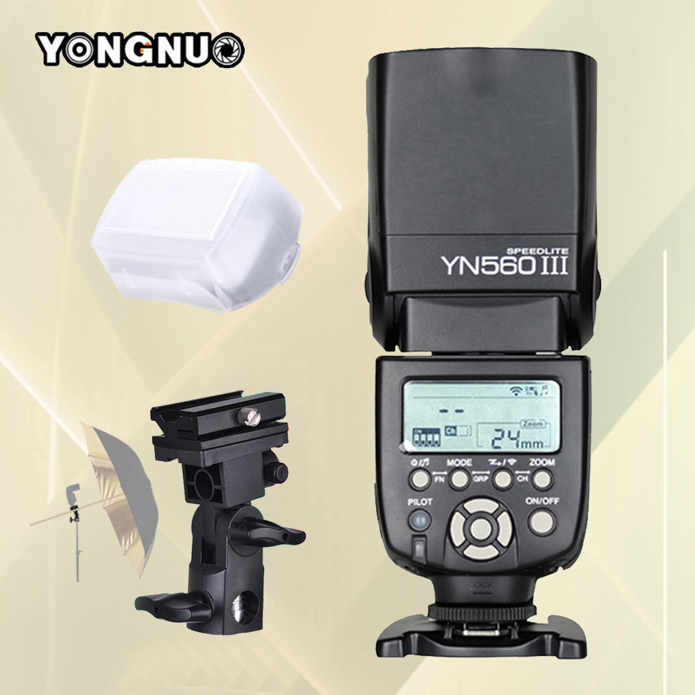 YONGNUO YN560 III YN-560 III YN560-III YN560III Speedlite For Canon Nikon Pentax Olympus Universal DSLR Camera Flash Speedlight pixle vertax d14 battery grip as mb d14 for nikon dslr d600 d610 camera