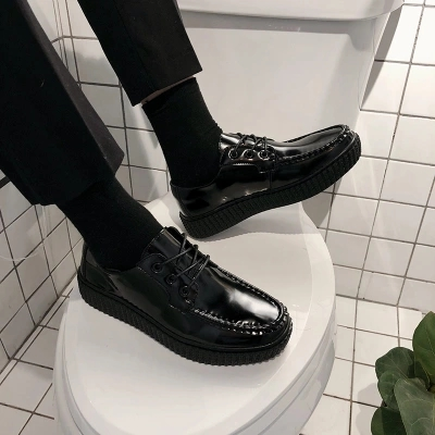 Sapatos Dos Coreano Low Outono Brilhantes 2018 De Grosso Novos Black E Primer Com Couro Inverno Homens Moda Casual cut zvxWWtdTqw