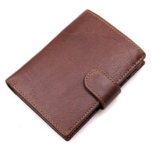 Genuine Leather Business Causal Wallet Card Case Short Mens Fashion Holder Coin Pocket Purse R-8129C