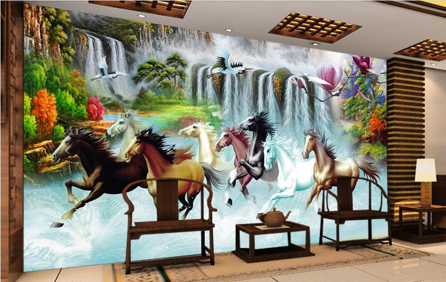 Compare prices on running horses photos online shopping for Custom mural cost