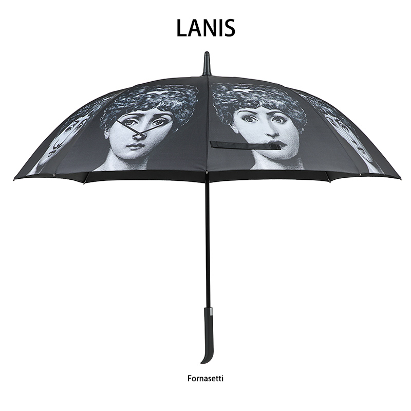 Image 5 - Fornaseti Long Handle Umbrella Men Gift Clear Golf Umbrella Parasol Rain Umbrella Female Women Betty Boop Decoration Umbrella-in Umbrellas from Home & Garden