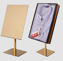 Metal Stainless Steel Shirt Display Rack Clothes Holder Stand Show Linings Hanger