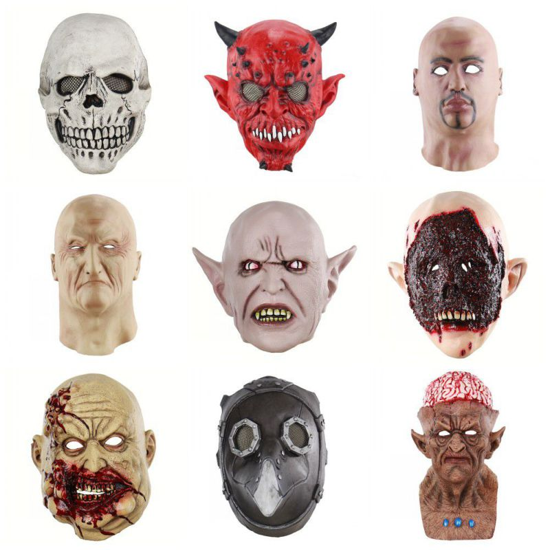 Responsible 15pcs Full Face Halloween Diy Blank Painting Mask Halloween Hip-hop Ghost Masquerade Party Mask male Face Diy Toys