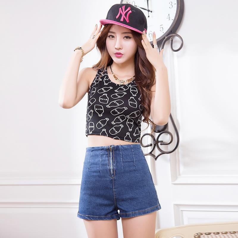 Summer Style 2016 New Korean Retro High Waist Shorts Female Thin ...