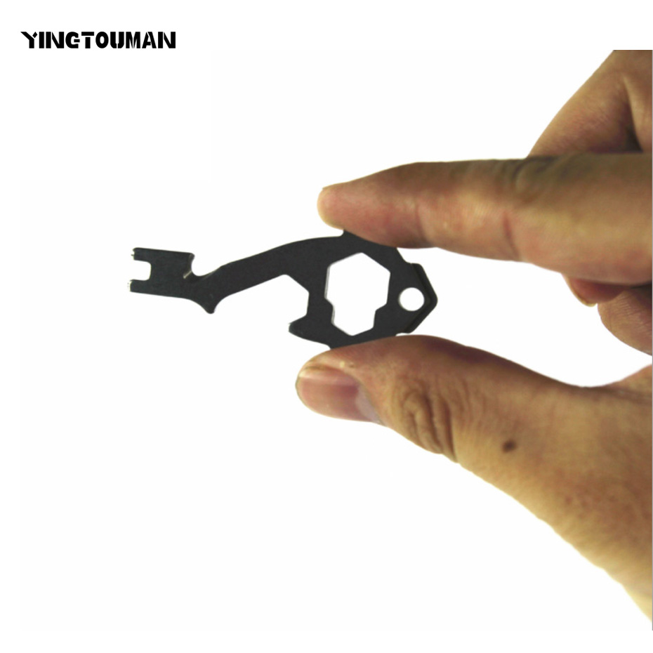 YINGTOUMAN 5pcs/lot 20-in-1 Multi-Tool Key Tools Pocket Multi Tools EDC Stainess Steel Key Ring Key Chain With Bottle Opener