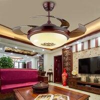 42 zoll 108 cm Decke Fan Retro Land Nickel Funktion für LED MetalLiving Zimmer Schlafzimmer Esszimmer