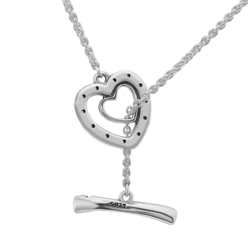 2018 New Bright Hearts Pendant Necklaces Genuine 100% 925 Sterling Silver Necklaces & Pendants Jewelry Making Accessories