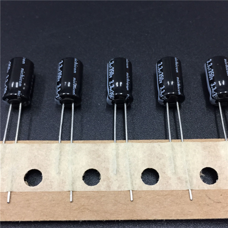 10pcs 3.3uF 350V NICHICON VK Series 6.3x11mm 350V3.3uF High Quality Aluminum Electrolytic Capacitor