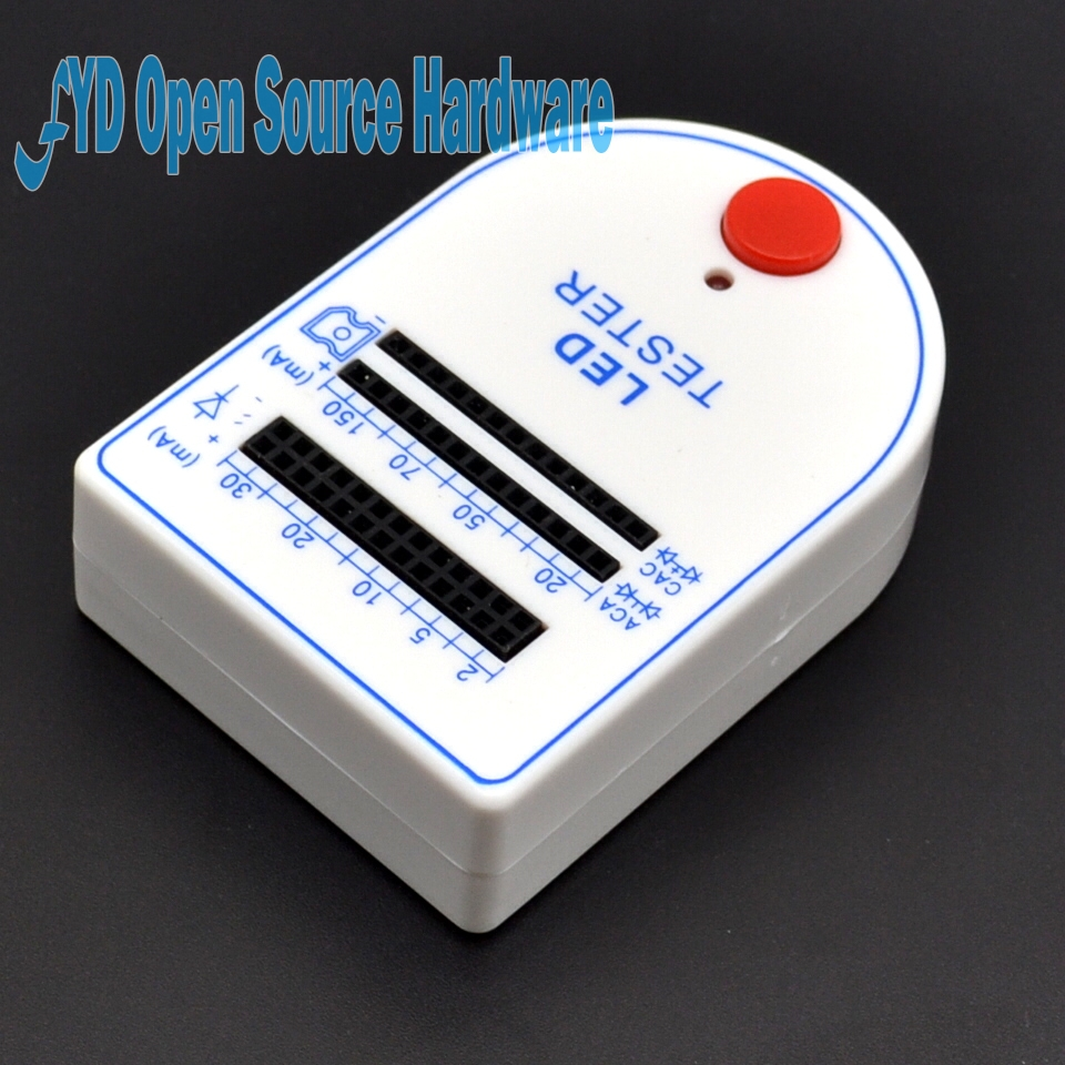 Mini probador LED práctico CAJA DE PRUEBA 2 ~ 150mA para lámpara de bombilla de diodo emisor de luz Cree XML2 XM-L2 T6 10W emisor LED de alta potencia diodo blanco frío 16/20mm PCB + 17mm/22mm DC3.7V 12V controlador