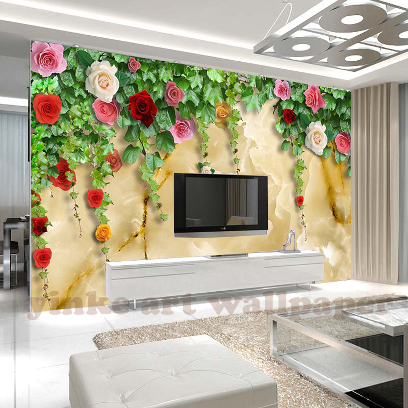 Us 1075 46 Offcustom Photo Wall Paper 3d Stereo Modern Rose Mural Bride Room Cafe Wedding House Backdrop Wallpaper For Walls 3 D Papel Tapiz In