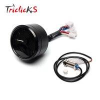 Triclicks 12000rpm KMH/MPH LCD Display Digital Speedometer Odometer 1 4 Cylinders LED Tachometer Gauge Motorcycle Odometers New