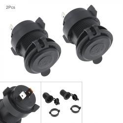 2 szt. 12V Universale wodoodporny samochód/gniazdo zapalniczki motocykla Adapter złącza ładowarki