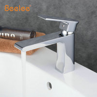 Beelee 1 Set Brass Boby Bathroom Basin Faucet Vessel Sink Water Tap Cold And Hot Mixer