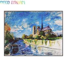 Aliexpress Value Set Sale 5pc/lot Diy Full Round Diamond Painting Cross Stitch Embroidery Kit Notre Dame De Paris Mosaic A Hobby