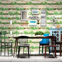3D European Wallpaper PVC Retro Wood Wallpaper Classic Waterproof Chinese Wallpaper Hotel Bar Dining Room Background