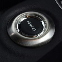 Đối với 2013 2014 Mitsubishi Outlander 4 wd nút sticker trang trí thép không gỉ trim cho outlander phụ kiện
