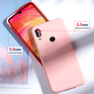 Image 2 - Keajor Soft Case For Xiaomi Redmi 7 6 6A Note 7 Pro Case Liquid Silicone Cover Luxury TPU Phone Case For Xiaomi Mi 9 SE Hoesje